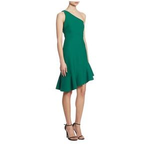 Cinq A Sept one shoulder cocktail dress